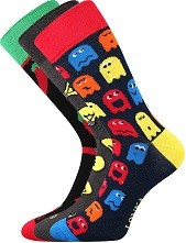 Ponožky Lonka WOODOO mix I - balení 3 různé páry