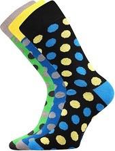 WEAREL 003 společenské ponožky Lonka, velké puntíky, zelená