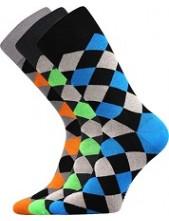 WEAREL 004 společenské ponožky Lonka, kosočtverce, sv. šedá