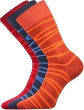 WEAREL 006 společenské ponožky Lonka, čáry, tm. modrá