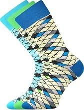 WEAREL 008 společenské ponožky Lonka, síť, modrá