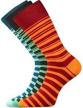 WEAREL 009 společenské ponožky Lonka, pruhy, modrá