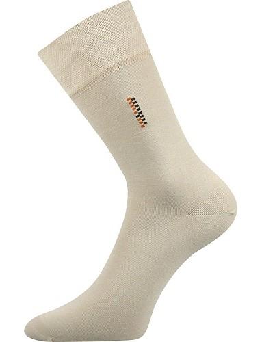 DELAVAR společenské ponožky Lonka, béžová