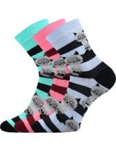 Ponožky Boma Xantipa Mix 47- balení 3 páry v barevném mixu