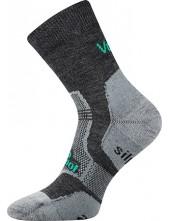 Ponožky VoXX - GRANIT Merino vlna, tmavě šedá