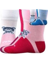 SEBÍK kojenecké bambusové ponožky VoXX Mix A - Bílá