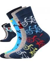 Dětské ponožky Boma 057-21-43 Kluk VII, Balení 3 různé páry