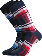 DIKARUS kostka mix A společenské ponožky Lonka - balení 3 páry v barevném mixu
