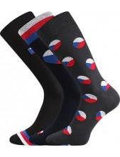WEAREL 016 společenské ponožky Lonka, černá