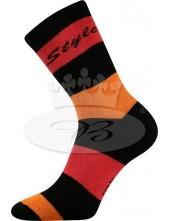 Ponožky Boma Pruhana MIx 11 červená