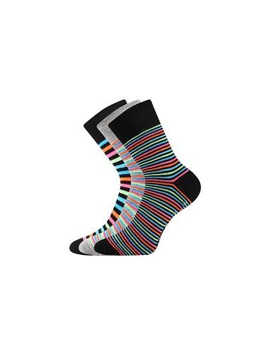 Ponožky Boma PRUHANA ABS Mix 13 - balení 3 páry v různých barvách