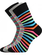 Ponožky Boma PRUHANA Mix 13 - balení 3 páry v různých barvách